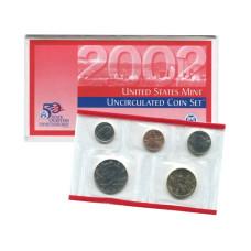 Набор из 5-ти монет США 2002 г. (D) в конверте