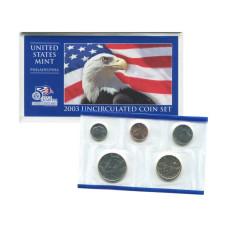 Набор из 5-ти монет США 2003 г. (P) в конверте