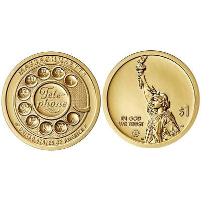 Монета 1 доллар США 2020 г. Телефон (D)