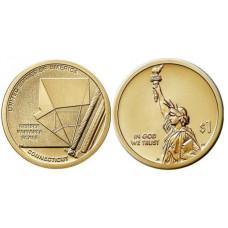 1 доллар США 2020 г. Переменная шкала Гербера (D)