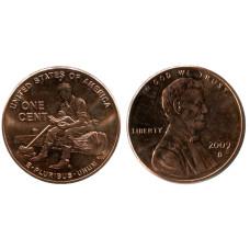 1 цент США 2009 г., Юность в Индиане (D)