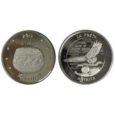 10 центов США 2013 г. Индейская резервация La Posta (сувенирная монета)