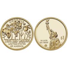 1 доллар США 2019 г. Попечительские сады (D)