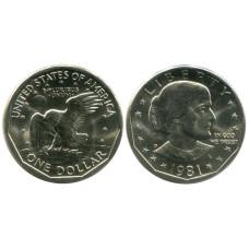 1 доллар США 1981 г. Сьюзен Энтони (D)