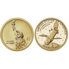 """1 доллар США 2020 г. Телескоп """"Хаббл"""" (D)"""