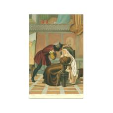 "Открытка ""Филипо Липпи и Лукреция Бути"" Габриэль Кастаньола, 1860 г."