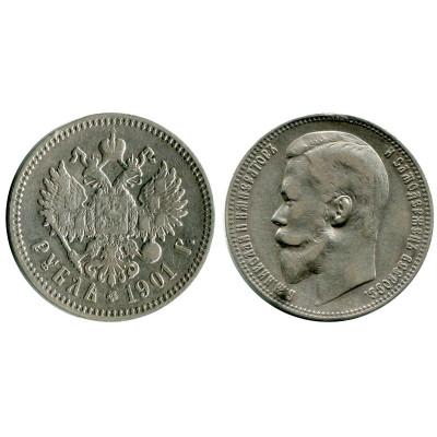 Серебряная монета 1 рубль 1901 г. (ФЗ) 3