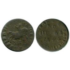 1 копейка 1709 г. Петр I (МД) 1