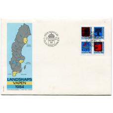Набор конвертов First Day Cover, Швеция 1984 г. (4шт) 1